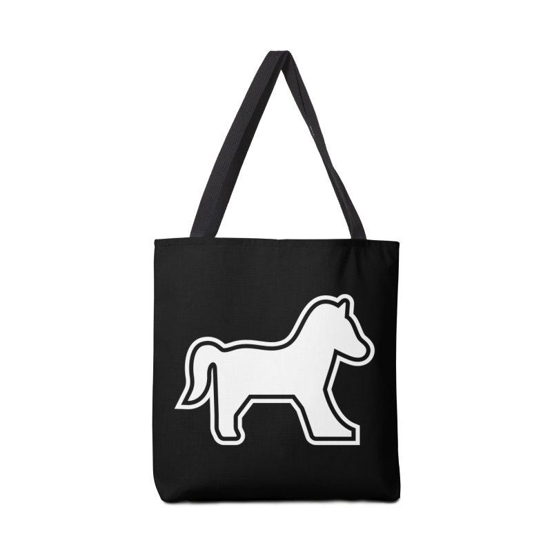 HORSEDOZER ICON (WHITE) Accessories Bag by HORSEDOZER