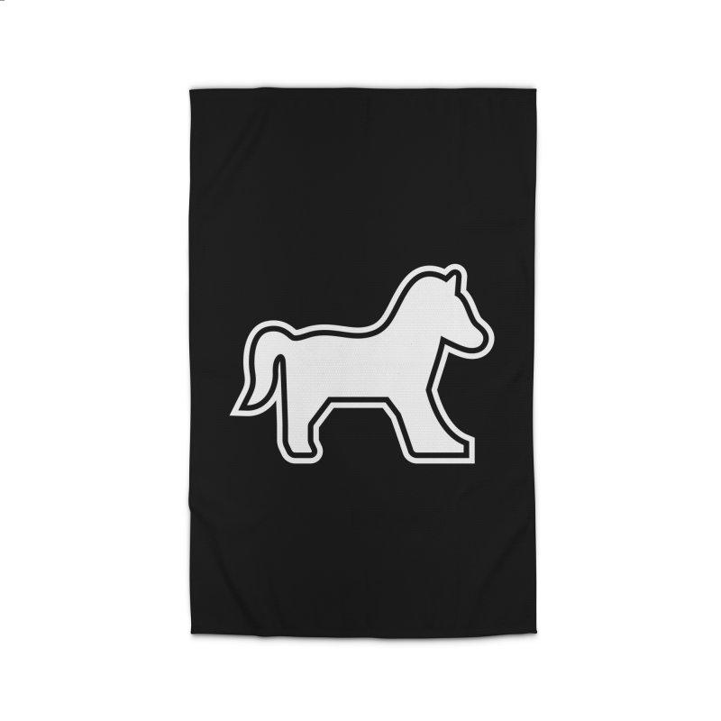 HORSEDOZER ICON (WHITE) Home Rug by HORSEDOZER