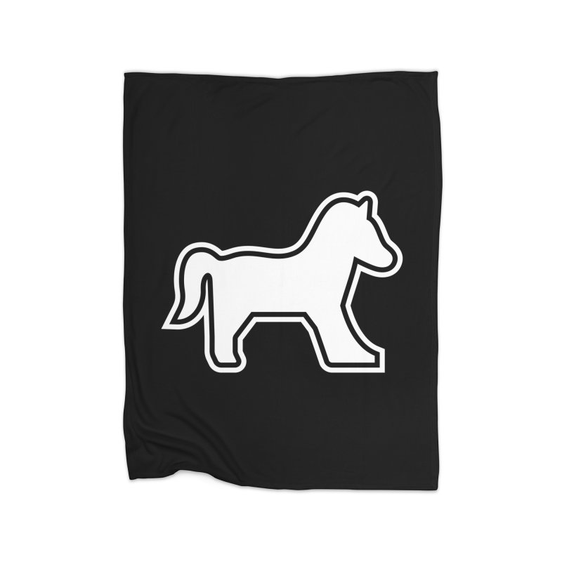HORSEDOZER ICON (WHITE) Home Blanket by HORSEDOZER