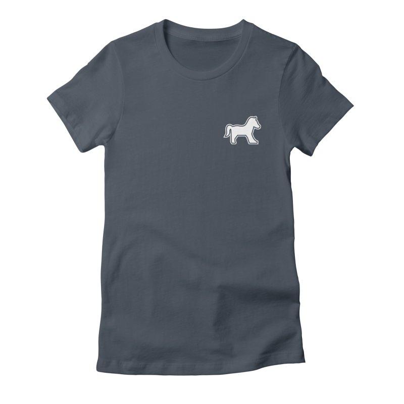 HORSEDOZER ICON (WHITE) Women's T-Shirt by HORSEDOZER