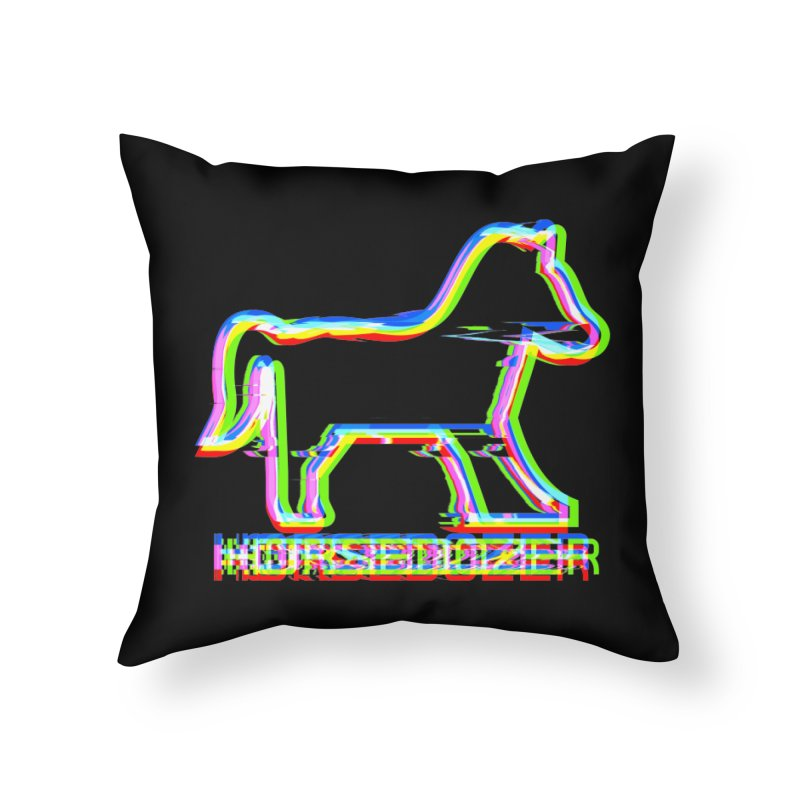 HORSEDOZER SPORTWAVE Home Throw Pillow by HORSEDOZER