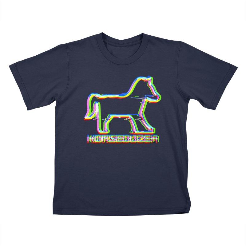 HORSEDOZER SPORTWAVE Kids T-Shirt by HORSEDOZER