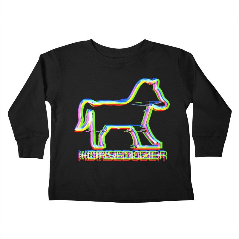 HORSEDOZER SPORTWAVE Kids Toddler Longsleeve T-Shirt by HORSEDOZER