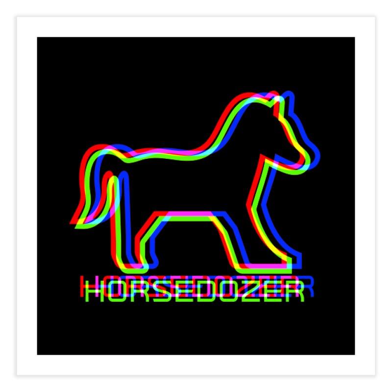 HORSEDOZER SPORTWAVE RGB Home Fine Art Print by HORSEDOZER
