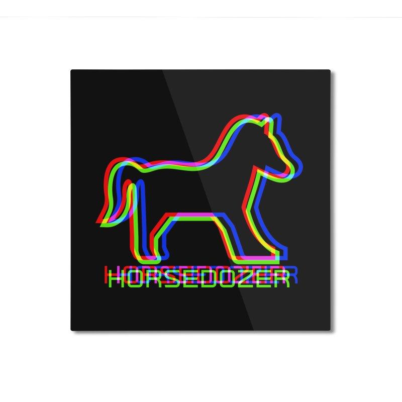 HORSEDOZER SPORTWAVE RGB Home Mounted Aluminum Print by HORSEDOZER