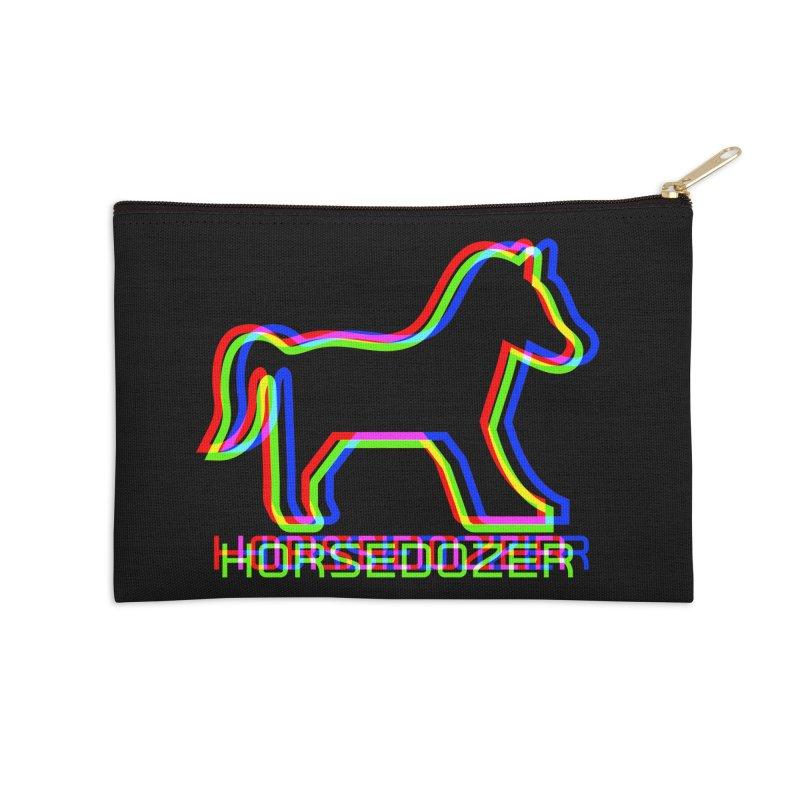 HORSEDOZER SPORTWAVE RGB Accessories Zip Pouch by HORSEDOZER