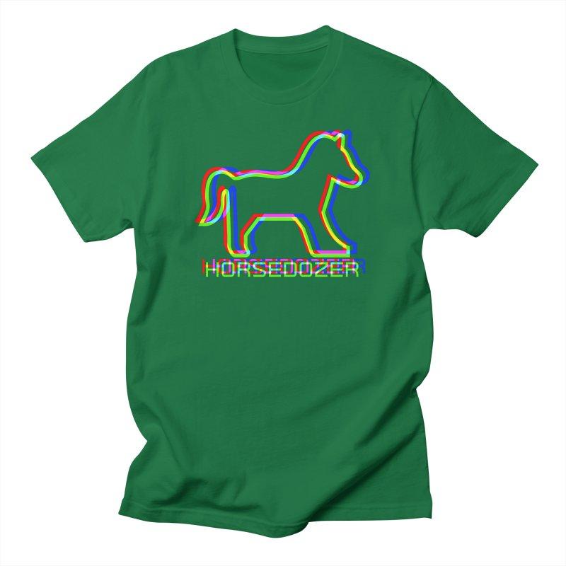 HORSEDOZER SPORTWAVE RGB Men's T-Shirt by HORSEDOZER