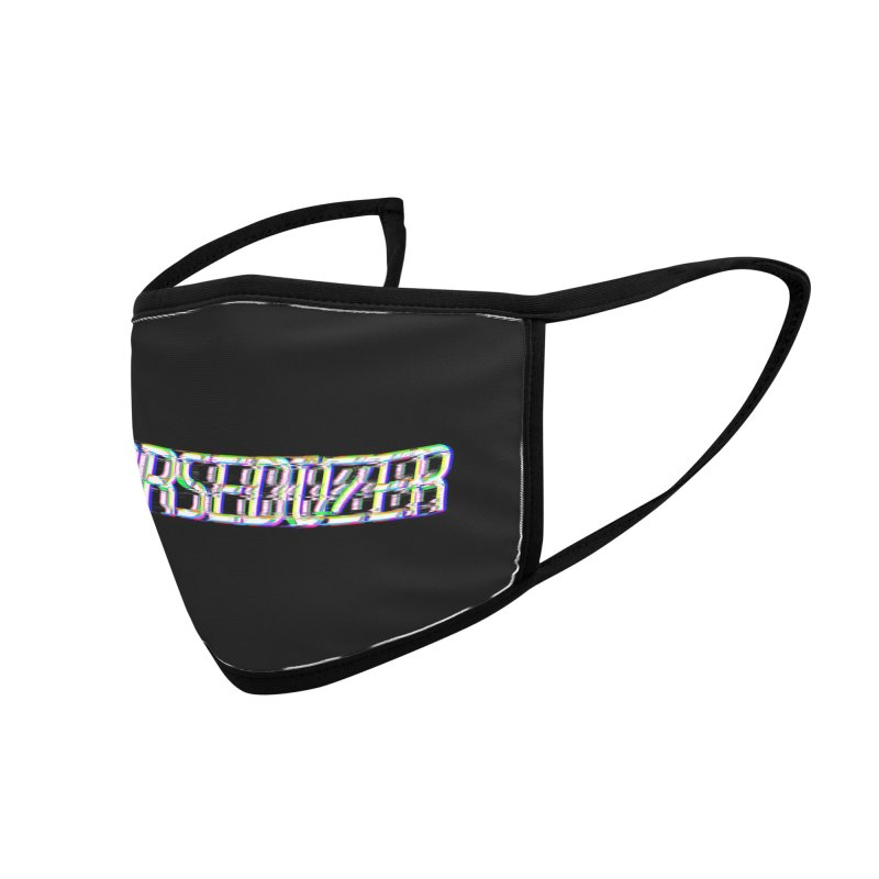 HORSEDOZER BROKENTYPEWAVE Accessories Face Mask by HORSEDOZER