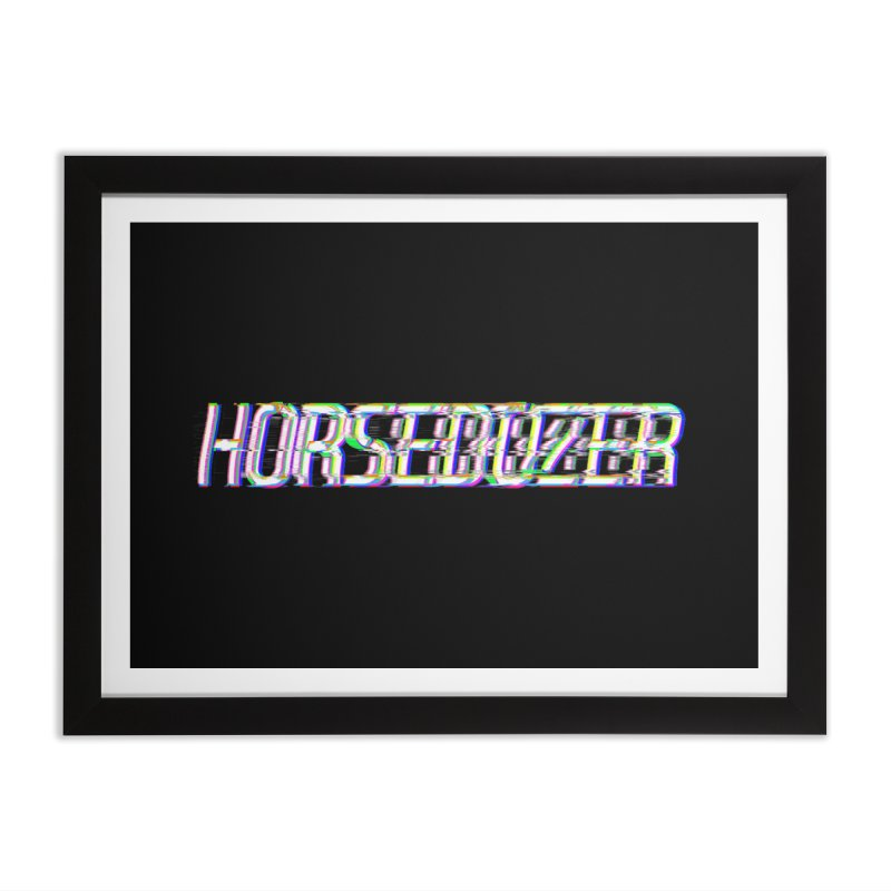 HORSEDOZER BROKENTYPEWAVE Home Framed Fine Art Print by HORSEDOZER