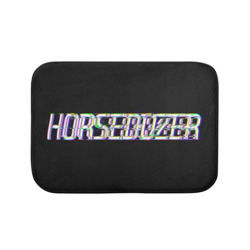HORSEDOZER BROKENTYPEWAVE Home Bath Mat by HORSEDOZER