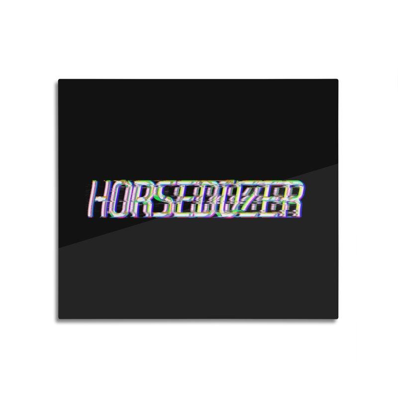 HORSEDOZER BROKENTYPEWAVE Home Mounted Aluminum Print by HORSEDOZER