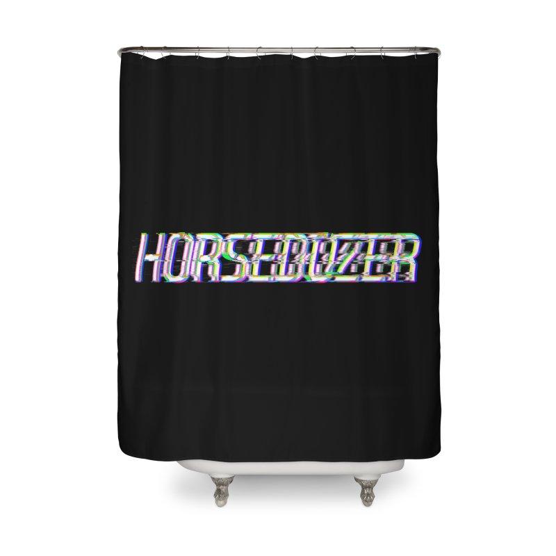 HORSEDOZER BROKENTYPEWAVE Home Shower Curtain by HORSEDOZER