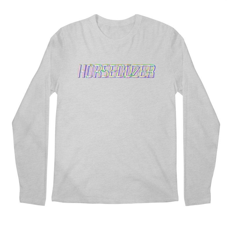 HORSEDOZER BROKENTYPEWAVE Men's Longsleeve T-Shirt by HORSEDOZER