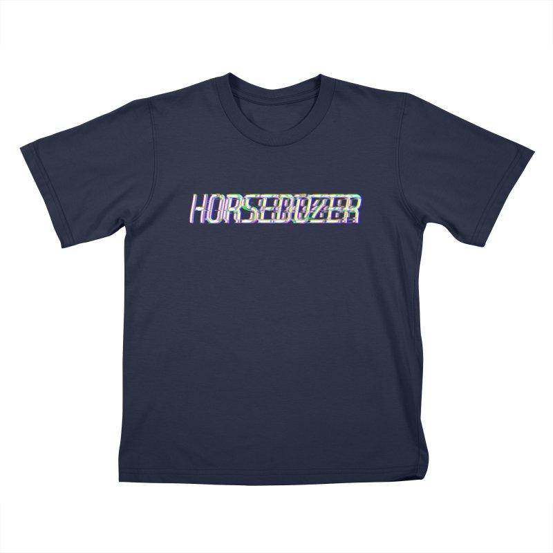 HORSEDOZER BROKENTYPEWAVE Kids T-Shirt by HORSEDOZER
