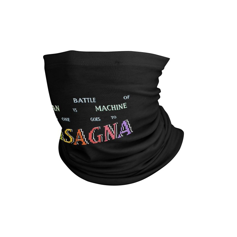 THIS ONE GOES TO LASAGNA (RACER TRASH TRIBUTE) Accessories Neck Gaiter by HORSEDOZER