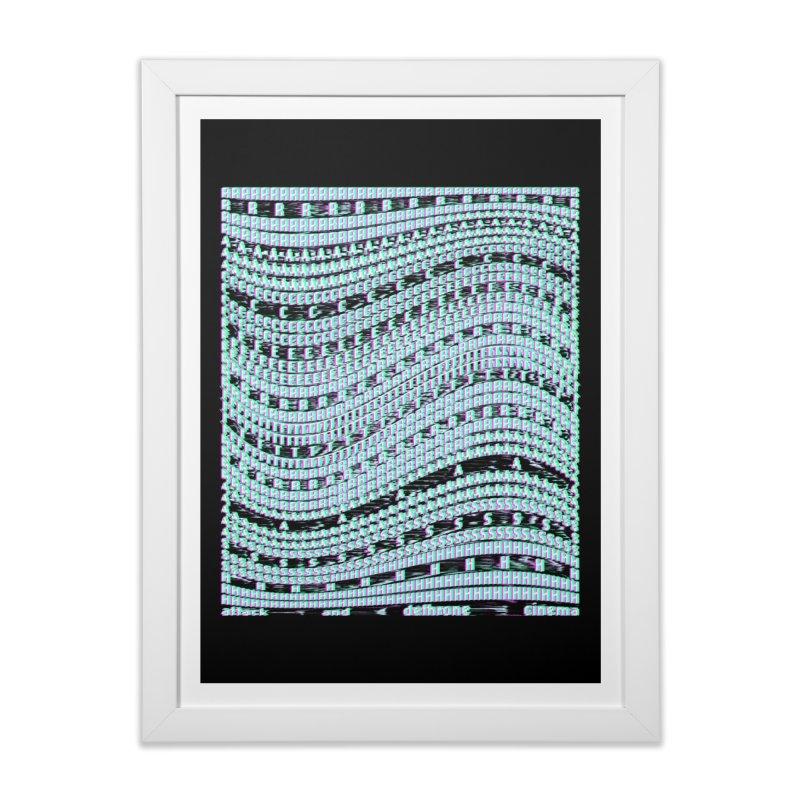 ATTACK AND DETHRONE CINEMA (RACER TRASH TRIBUTE) Home Framed Fine Art Print by HORSEDOZER