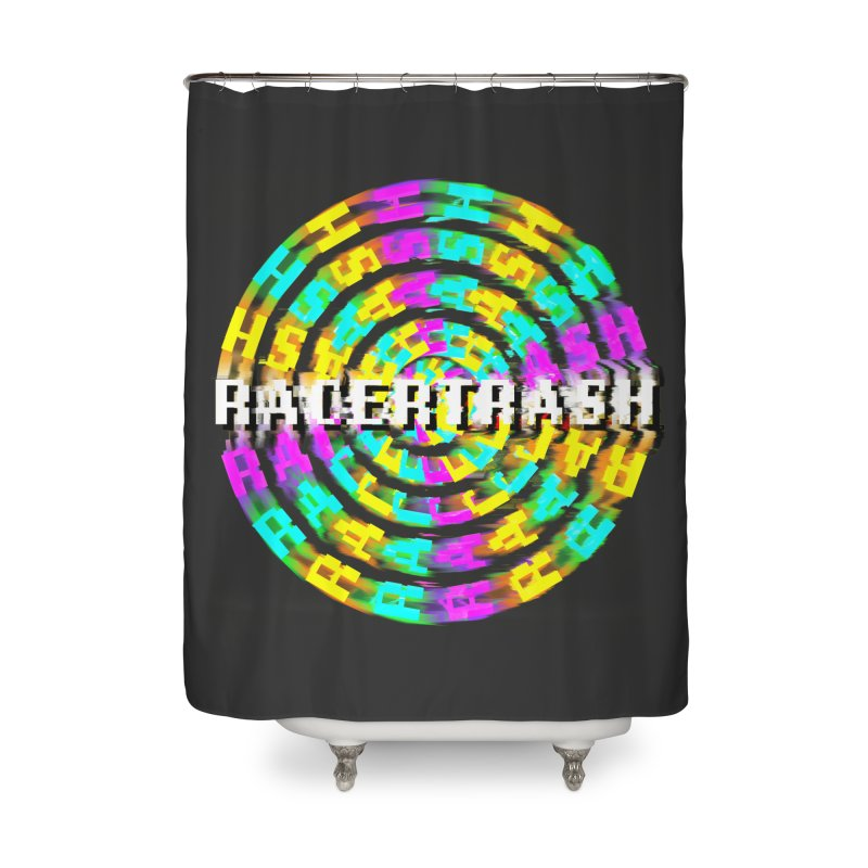 SPINNING UP (RACER TRASH TRIBUTE) Home Shower Curtain by HORSEDOZER