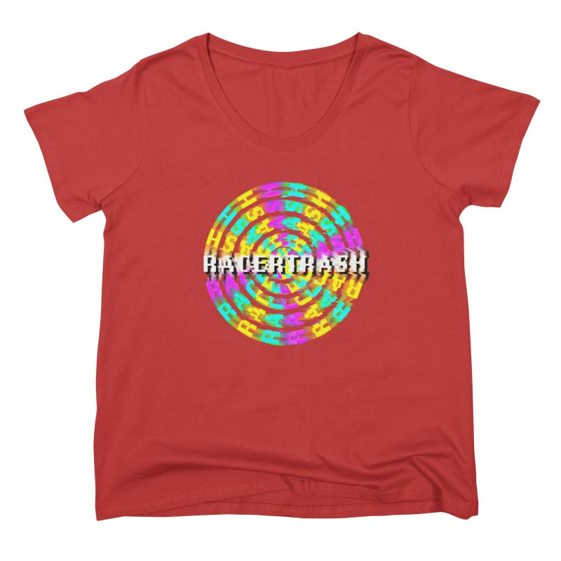 SPINNING UP (RACER TRASH TRIBUTE) Women's Scoop Neck by HORSEDOZER