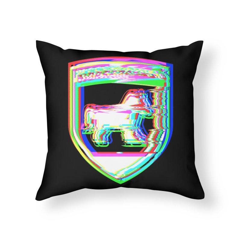 HORSEDOZER SHIELDWAVE Home Throw Pillow by HORSEDOZER