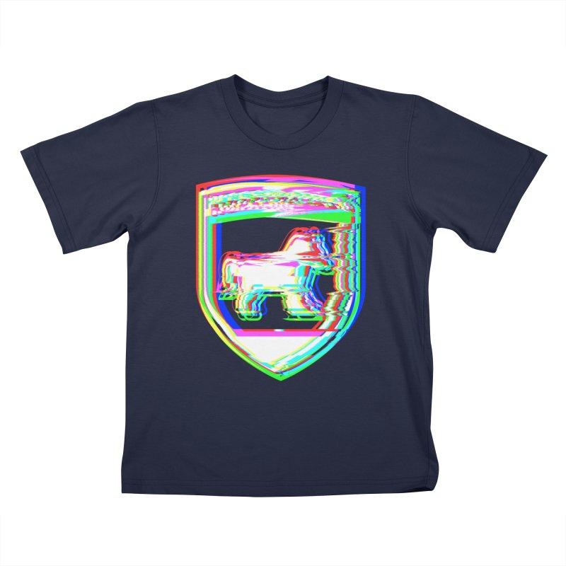 HORSEDOZER SHIELDWAVE Kids T-Shirt by HORSEDOZER