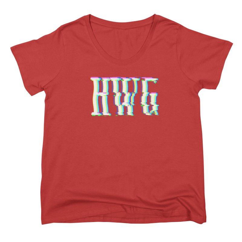 HWG (RACER TRASH TRIBUTE) Women's Scoop Neck by HORSEDOZER