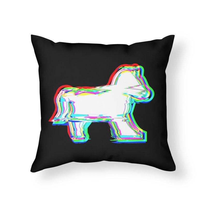 HORSEDOZER ICONWAVE Home Throw Pillow by HORSEDOZER