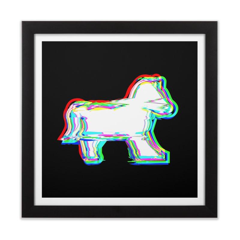 HORSEDOZER ICONWAVE Home Framed Fine Art Print by HORSEDOZER