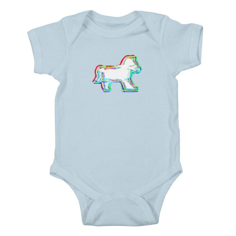 HORSEDOZER ICONWAVE Kids Baby Bodysuit by HORSEDOZER
