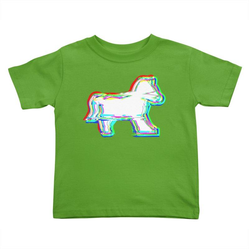 HORSEDOZER ICONWAVE Kids Toddler T-Shirt by HORSEDOZER