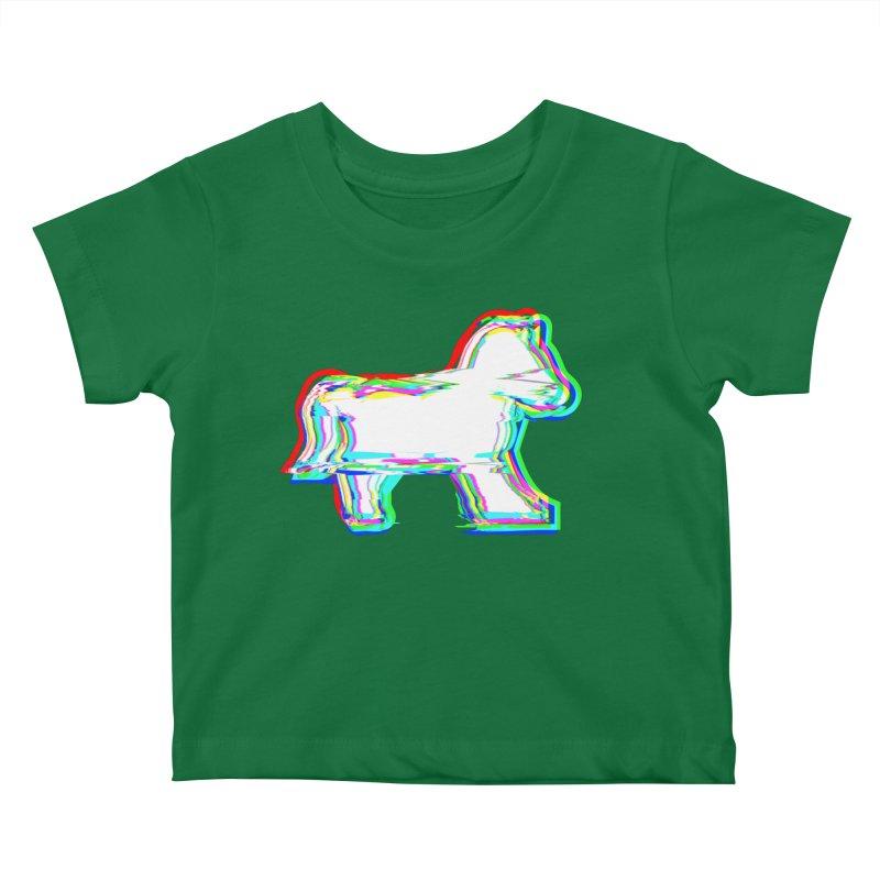 HORSEDOZER ICONWAVE Kids Baby T-Shirt by HORSEDOZER