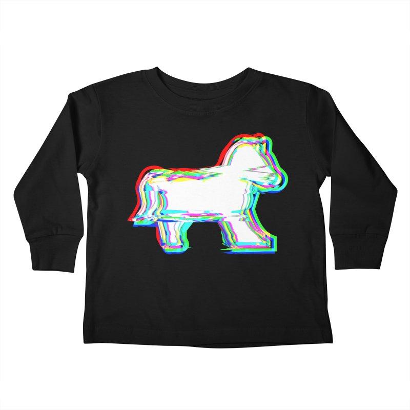 HORSEDOZER ICONWAVE Kids Toddler Longsleeve T-Shirt by HORSEDOZER