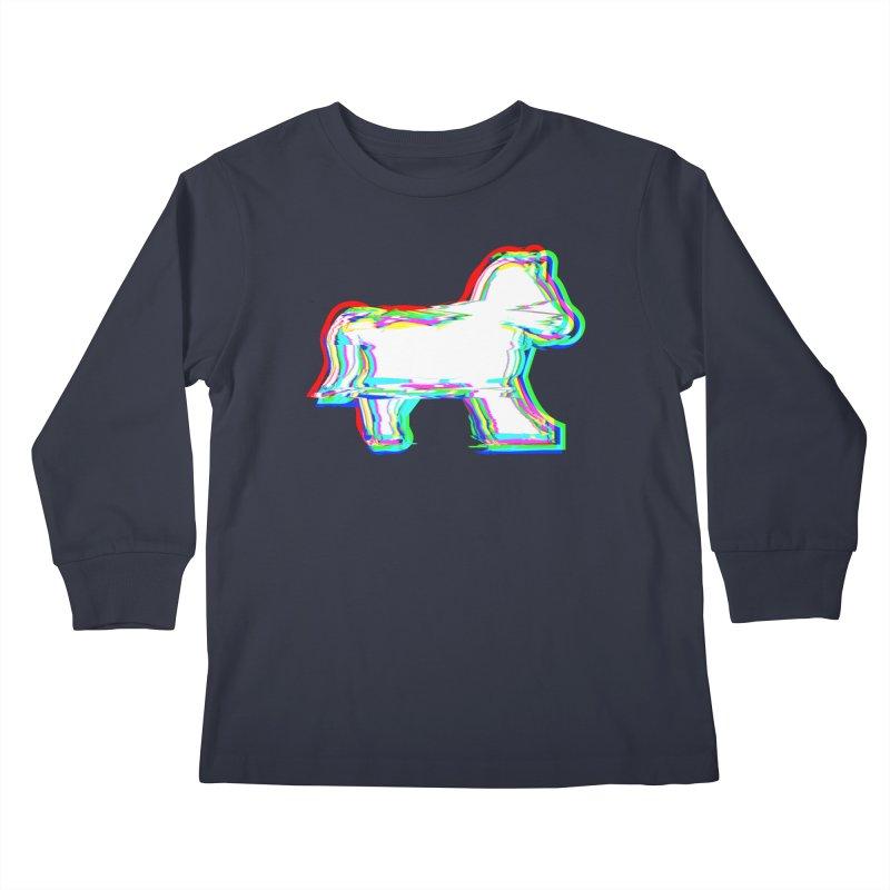 HORSEDOZER ICONWAVE Kids Longsleeve T-Shirt by HORSEDOZER