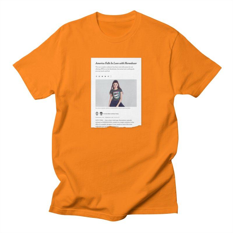 HORSEDOZER NEWS Men's T-Shirt by HORSEDOZER
