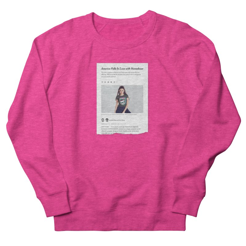 HORSEDOZER NEWS Women's Sweatshirt by HORSEDOZER