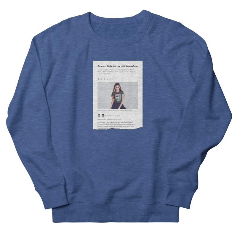 HORSEDOZER NEWS Men's Sweatshirt by HORSEDOZER