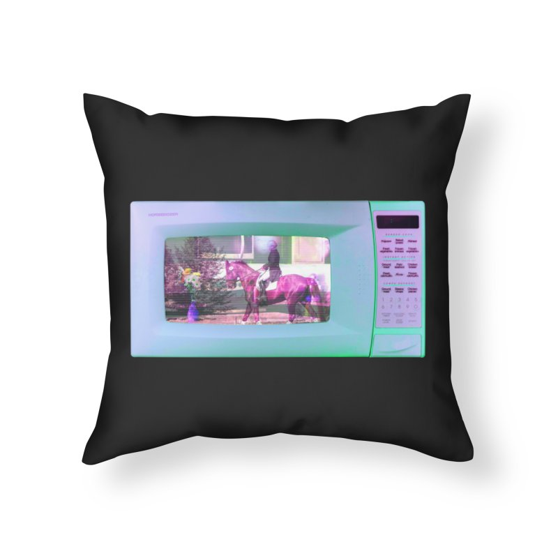 HORSEDOZER MICROWAVE Home Throw Pillow by HORSEDOZER