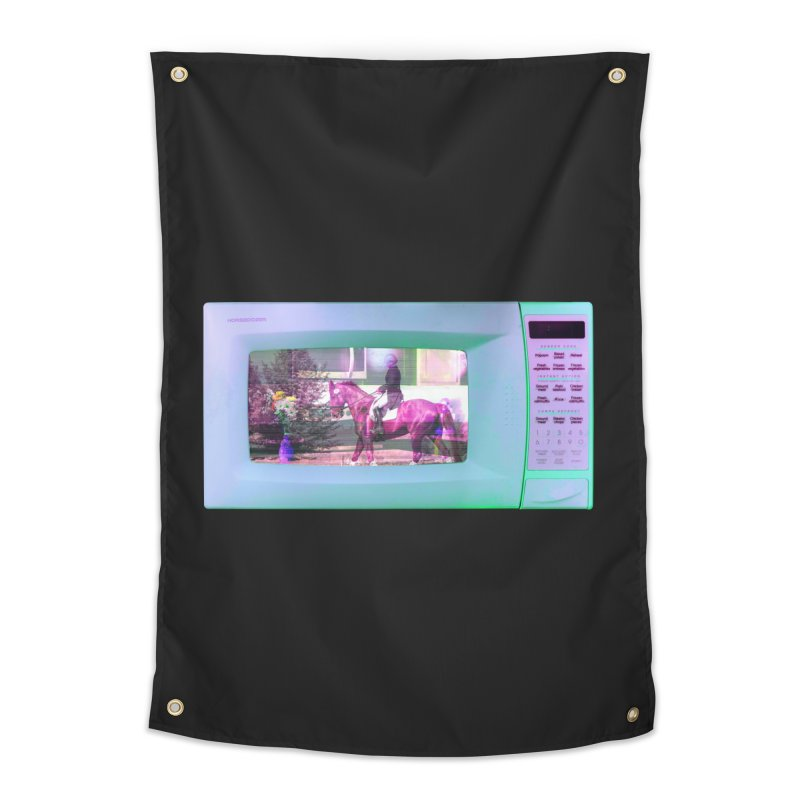 HORSEDOZER MICROWAVE Home Tapestry by HORSEDOZER