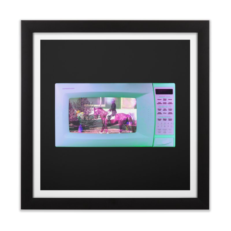 HORSEDOZER MICROWAVE Home Framed Fine Art Print by HORSEDOZER