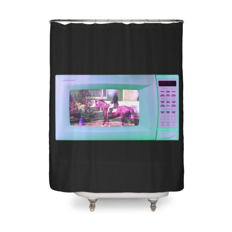 HORSEDOZER MICROWAVE Home Shower Curtain by HORSEDOZER