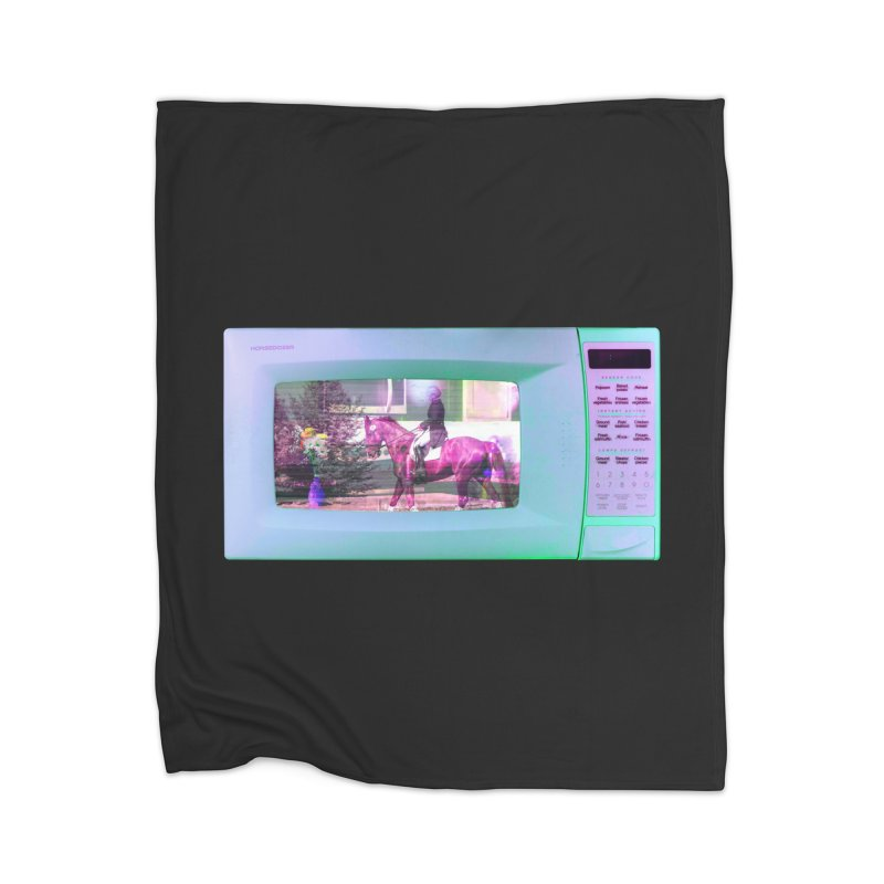 HORSEDOZER MICROWAVE Home Blanket by HORSEDOZER