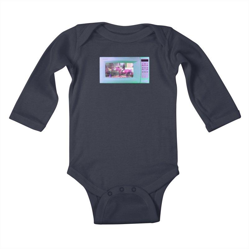 HORSEDOZER MICROWAVE Kids Baby Longsleeve Bodysuit by HORSEDOZER