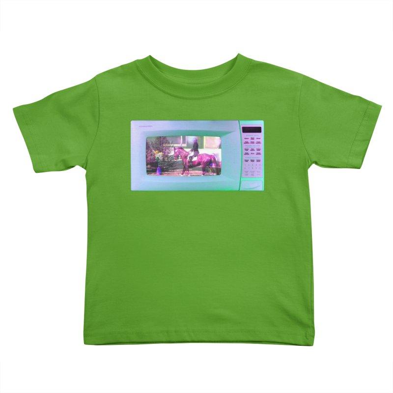 HORSEDOZER MICROWAVE Kids Toddler T-Shirt by HORSEDOZER