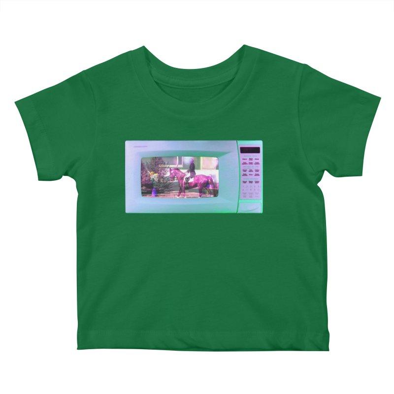 HORSEDOZER MICROWAVE Kids Baby T-Shirt by HORSEDOZER