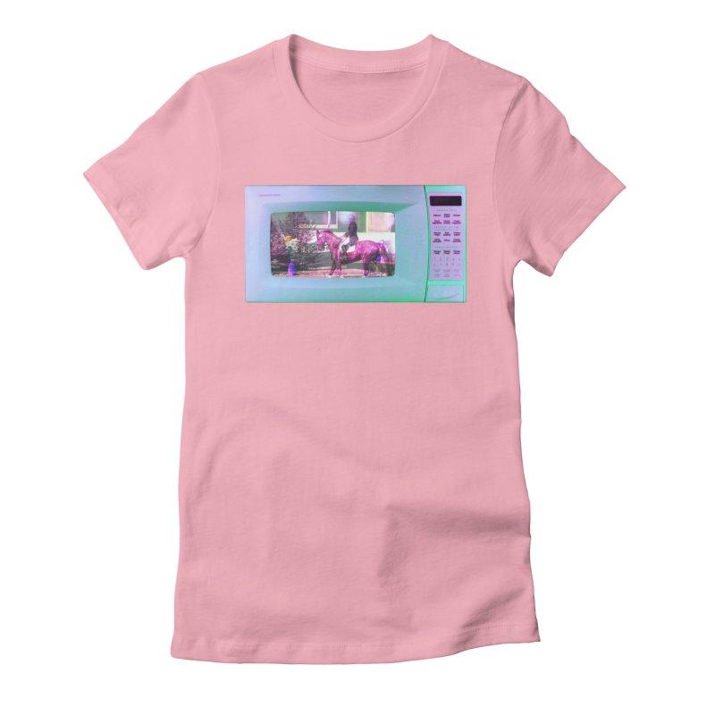 HORSEDOZER MICROWAVE Women's T-Shirt by HORSEDOZER