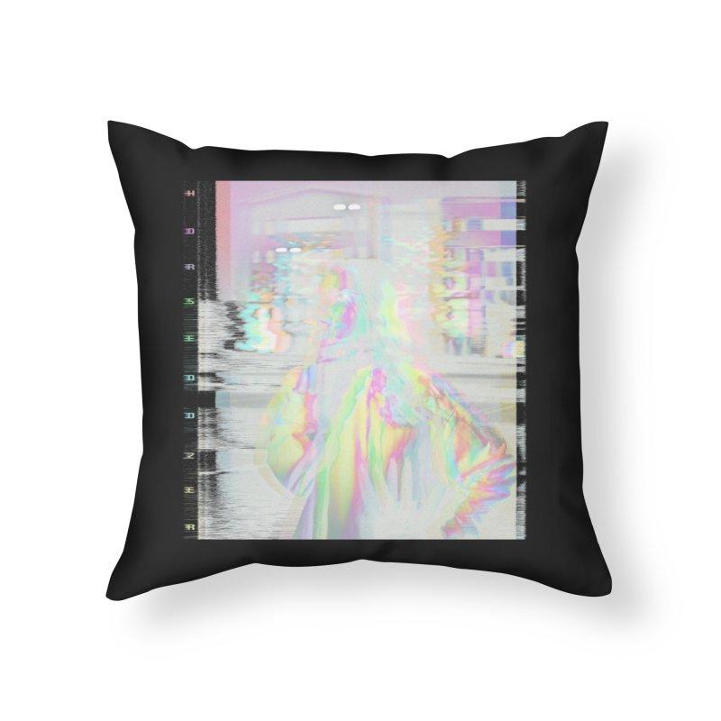 HORSEDOZER SMOKEWAVE Home Throw Pillow by HORSEDOZER
