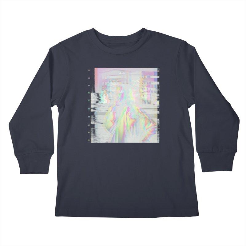 HORSEDOZER SMOKEWAVE Kids Longsleeve T-Shirt by HORSEDOZER