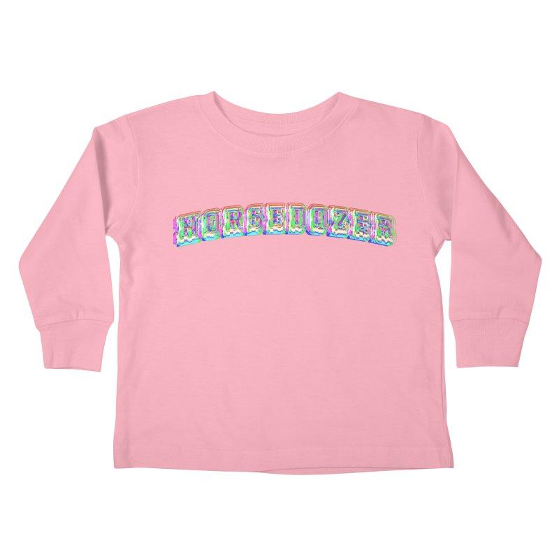 HORSEDOZER UNIVERSITYWAVE Kids Toddler Longsleeve T-Shirt by HORSEDOZER