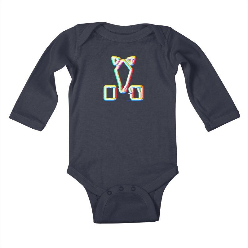 HORSEDOZER SIGNWAVE Kids Baby Longsleeve Bodysuit by HORSEDOZER