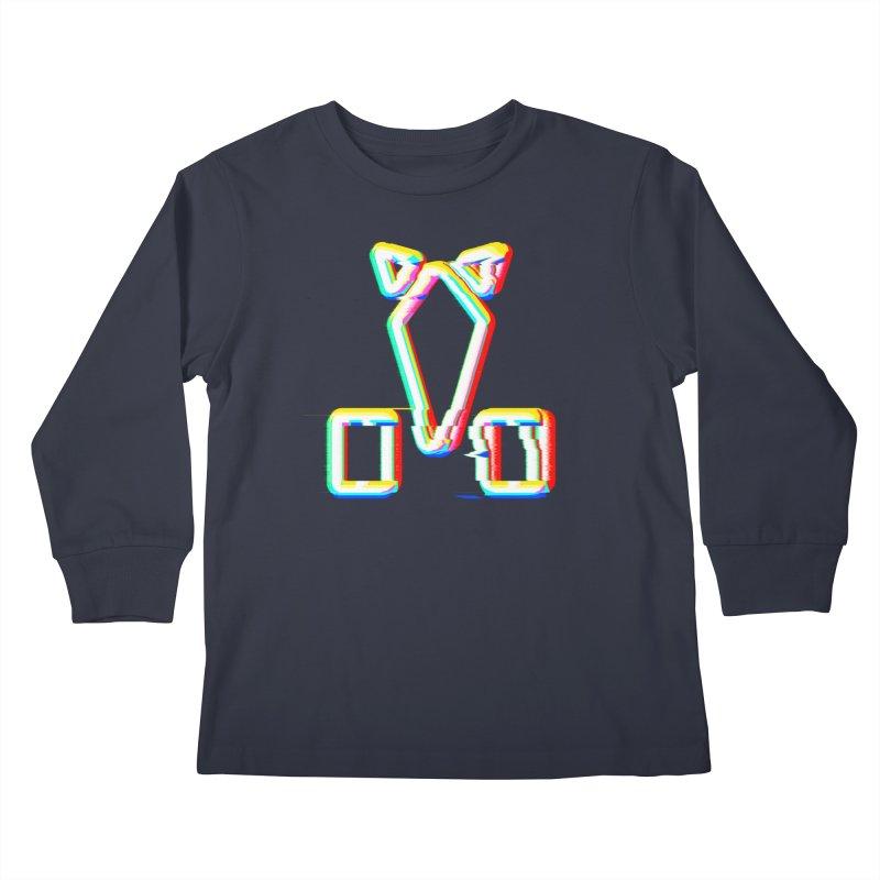 HORSEDOZER SIGNWAVE Kids Longsleeve T-Shirt by HORSEDOZER
