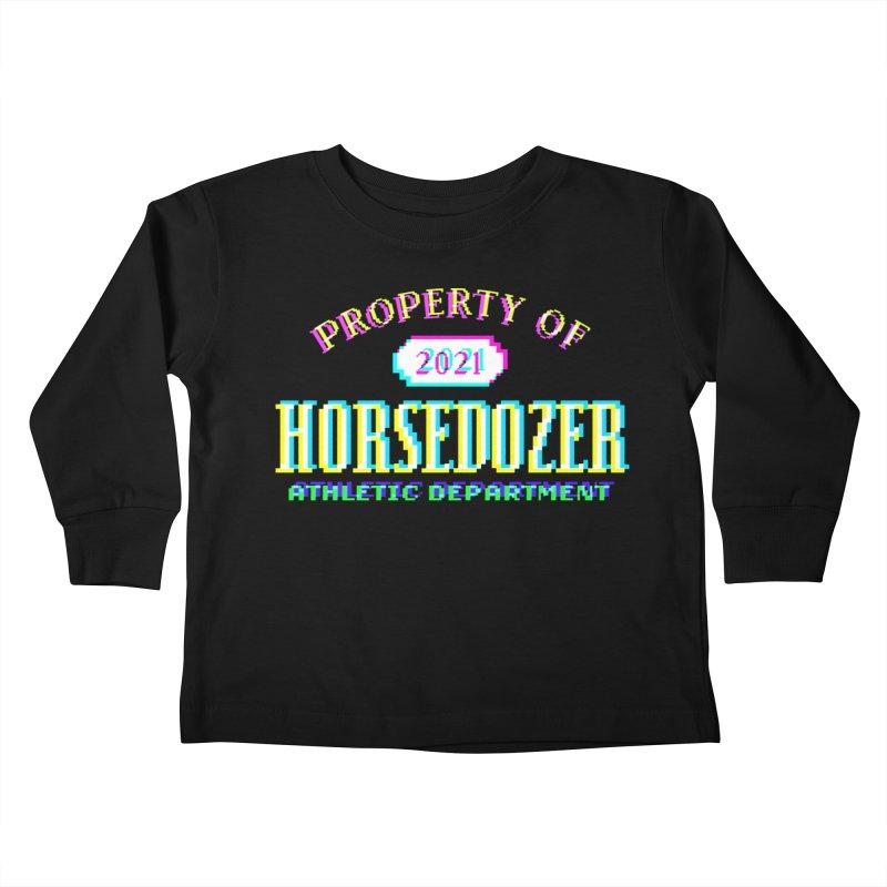 HORSEDOZER ATHLETICWAVE Kids Toddler Longsleeve T-Shirt by HORSEDOZER